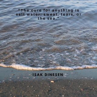 """""""The cure for anything is salt water: sweat, tears, or the sea"""" Isak Dinesen #sea #seaside #seashells #blue #bluespace #bluetherapy #quotes #quotestagram #life #isakdinesen"""